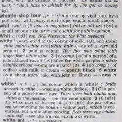 ロングマン英々辞典white